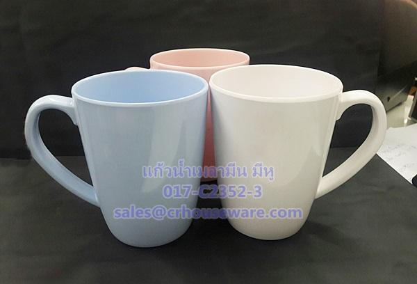 แก้วหูเมลามีน ทรงใหม่ (สวย รูปทรงดูดี) Code : 017-C2352-3