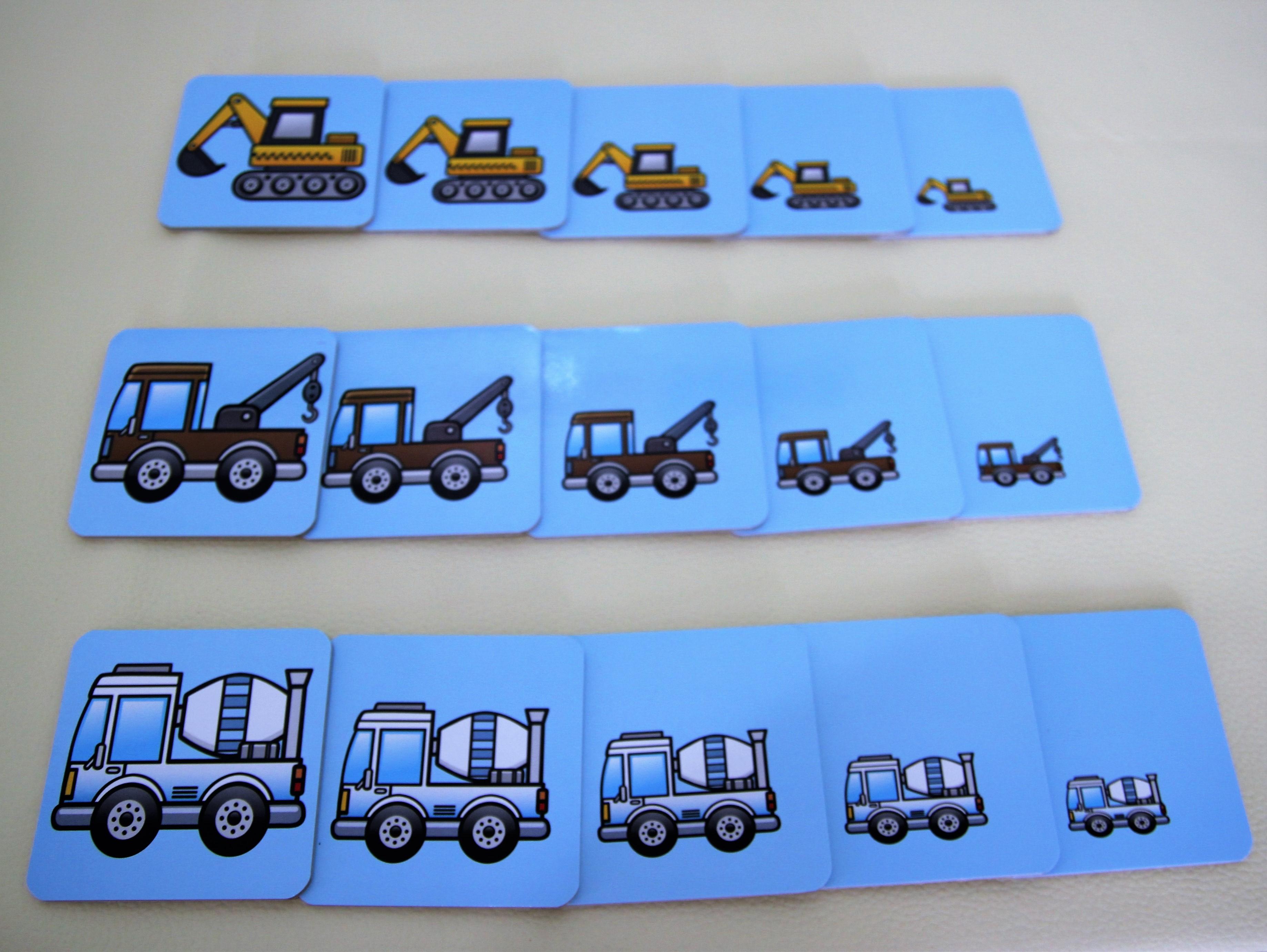 เกมเรียงลำดับรูปภาพ รูปรถ สำหรับเด็ก 3 ขวบขึ้นไป