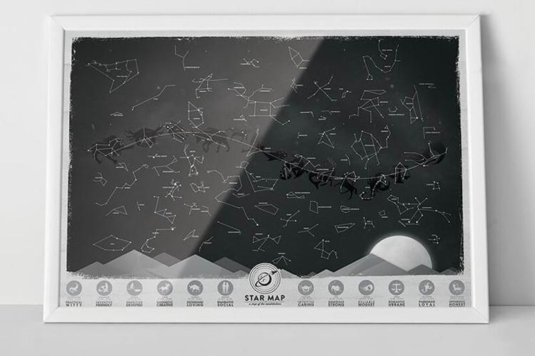 แผนที่ดวงดาว Luckies Star Map
