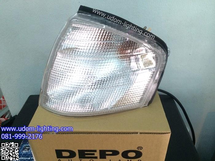 เสื้อไฟมุม BENZ W202 (C220) สีขาว /DEPO