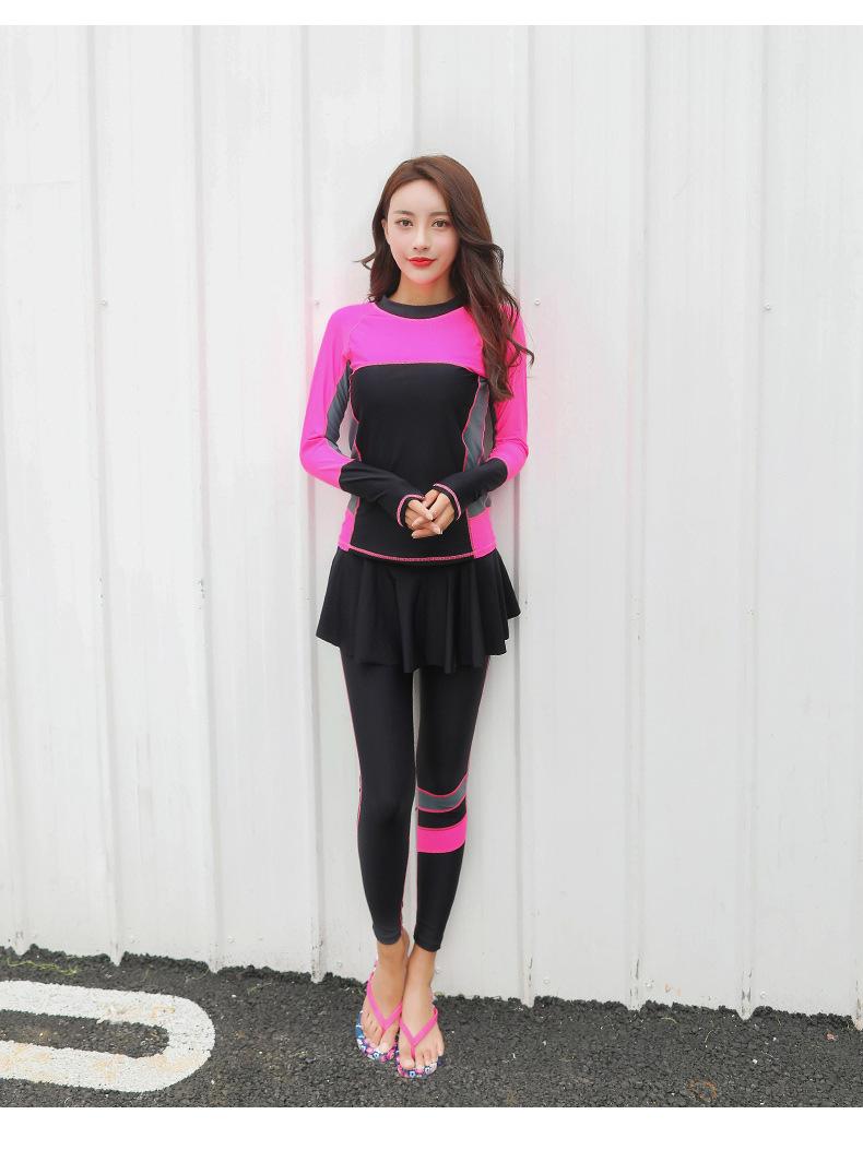 ชุดว่ายน้ำแนวสปอร์ตกัน uv เสื้อ +กางเกงขายาว ไซส์ 5xl รอบอก 40-46 รอบเอว 34-40 สะโพก 42-52 นิ้วค่ะ กางเกงขายาวมีผ้าระบายบังเป้า ผ้าดี งานสวยค่ะ