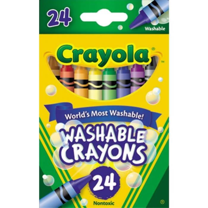 Crayola Washable Crayons สีเทียน 24 สี สีเทียนปลอดสารพิษ ล้างออกได้