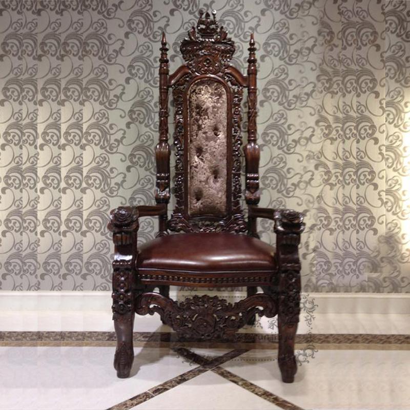 เก้าอี้หลุยส์พนักพิงสูง