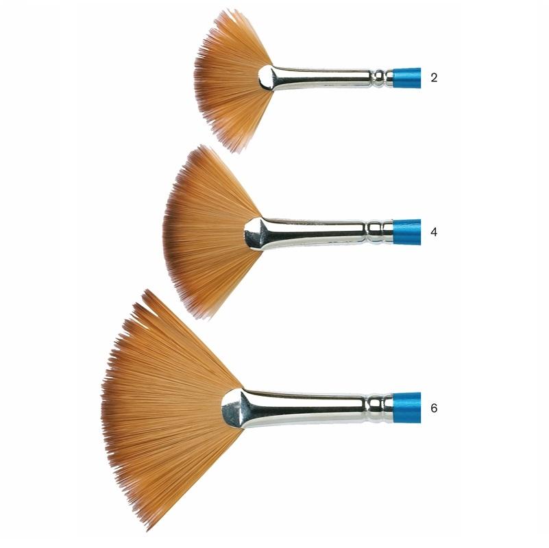 Winsor & Newton Cotman Long Brush Series 888 Fan (พู่กันพัดWinsor ด้ามยาว)