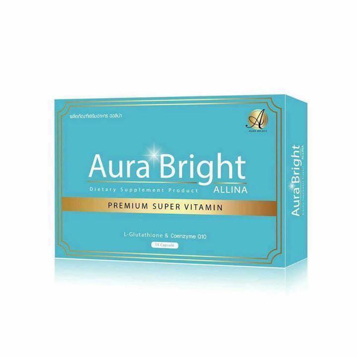 Aura Bright Super Vitamin วิตามินเร่งผิวขาว ขาวไว ลดสิว หน้าเด็ก กันแดด เห็นผลเร่งด่วน ใน 10 วัน เม็ดเดียว ตอบสนองทุกความต้องการของผิว ขาวง่ายๆ ไม่ต้องฉีดผิว ปลอดภัย 1,000,000%