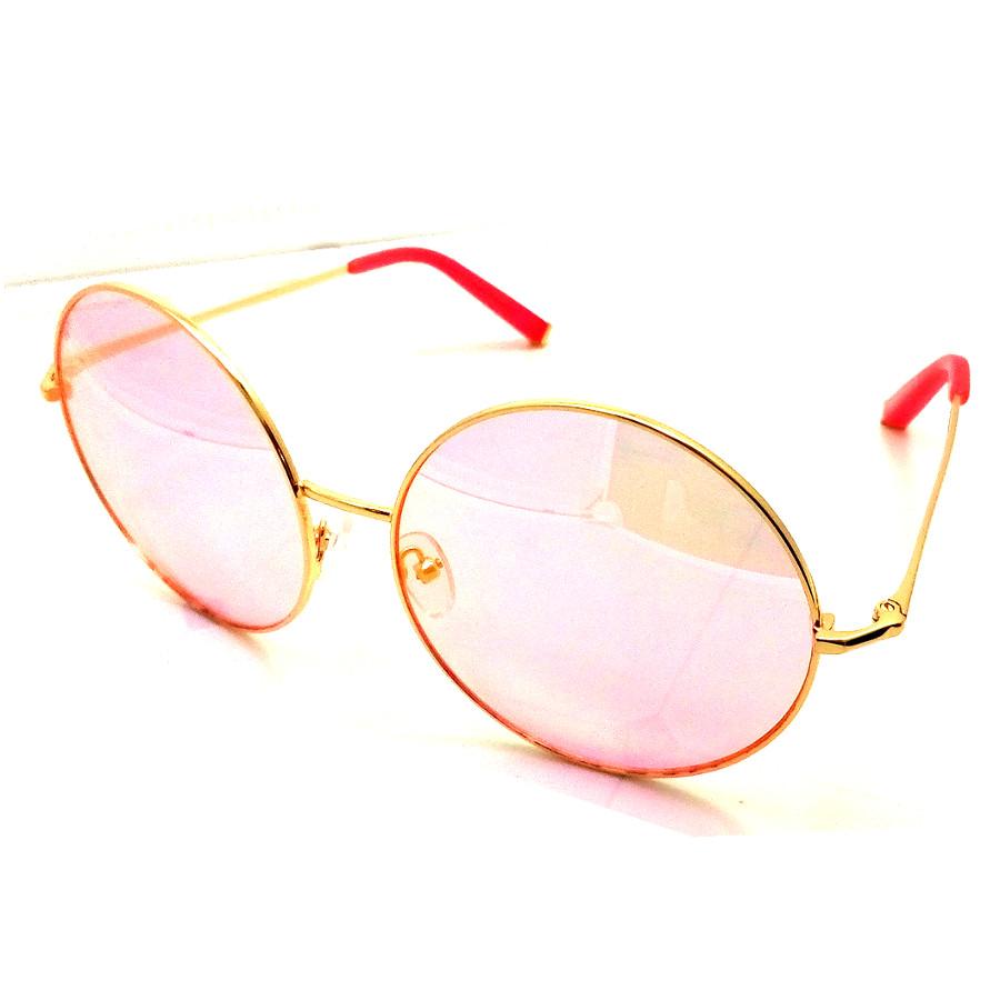 แว่นกันแดดแฟชั่น ทรงกลม กรอบสีทอง เลนส์สีชมพู รุ่น OR60