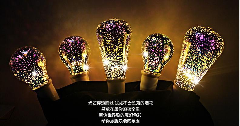 หลอดไฟ 3D Firework LED Bulb