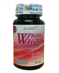 Acorbic Wrink White 30 เม็ด อาหารเสริมคอลลาเจน Hydrolysed Collagen 2000mg ผิวเต่งตึง ผิวกระชับ ผิวสวยเนียนนุ่ม ขาวใส