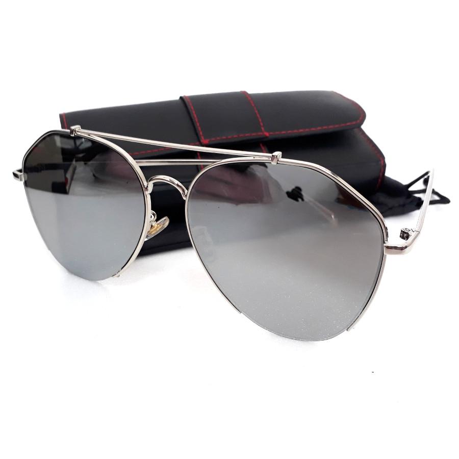 แว่นแฟชั่น ดารา กรอบสีเงิน เลนส์ปรอท รุ่น ดารา #2