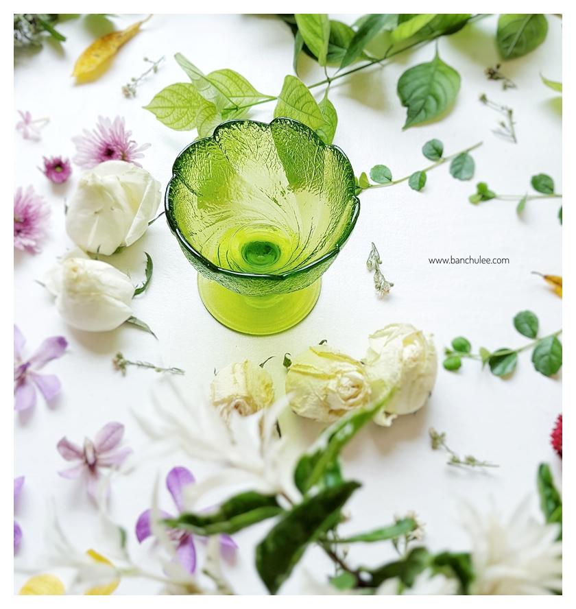 Ice Cream Glass Cup - Green