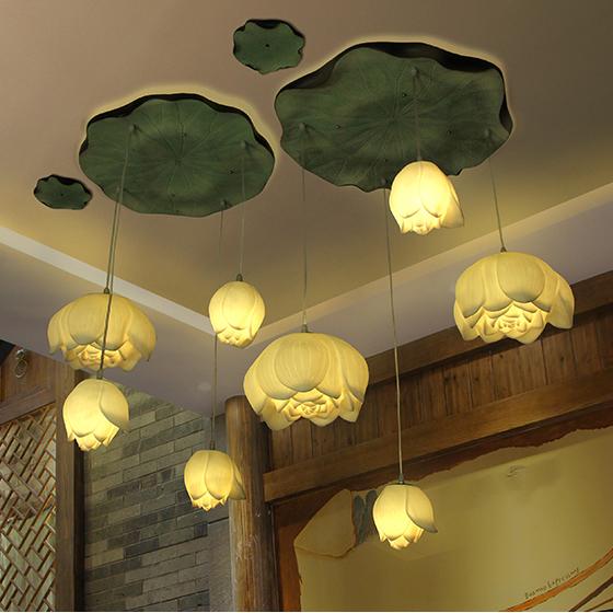 โคมไฟติดเพดานดอกบัว