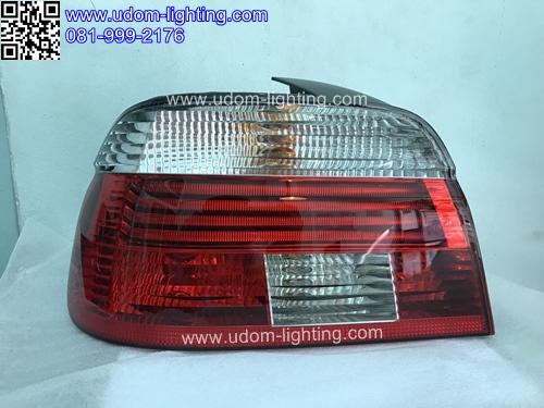 เสื้อไฟท้าย BMW E39 สีขาว แดง (LED) /HELLA