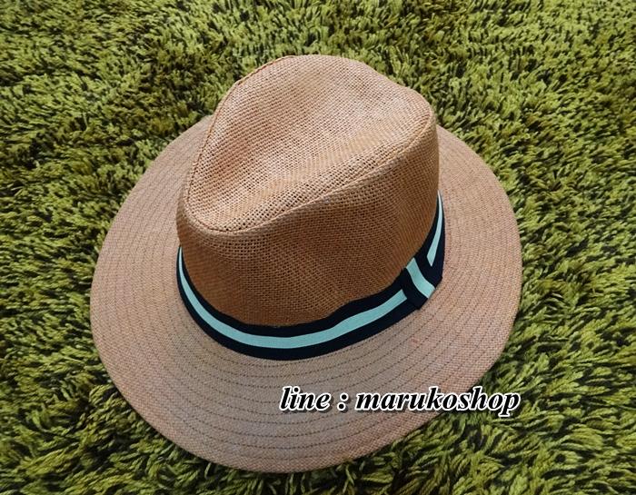 หมวกทรงปานามา สีน้ำตาลส้ม **สินค้าพร้อมส่งค่ะ***