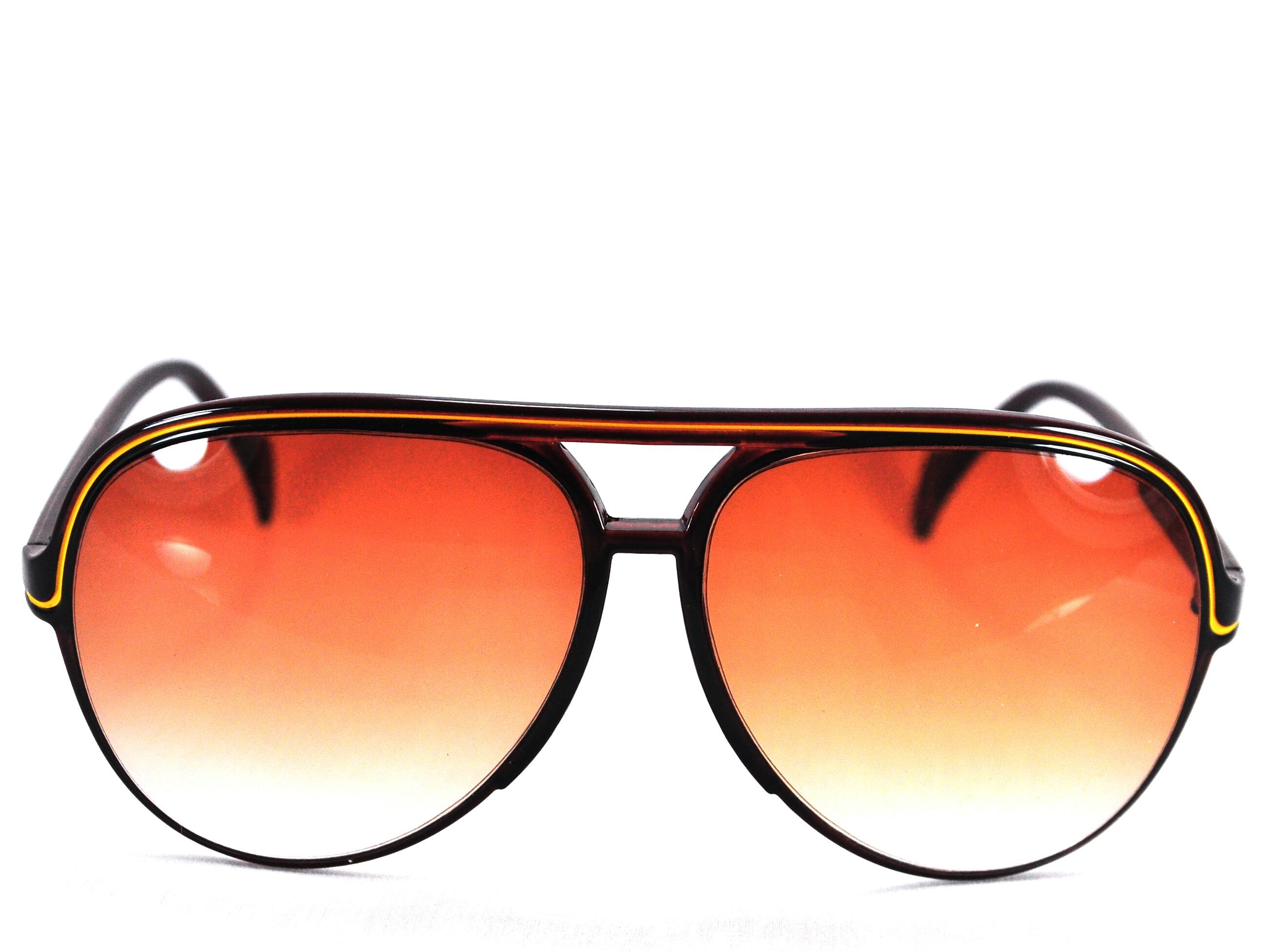 แว่นกันแดด แฟชั่น สไตล์วินเทจ สีชา