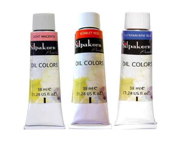 สีน้ำมันศิลปากรประดิษฐ์ 38ml (Silpakorn Pradit Oil Colour 38ml)