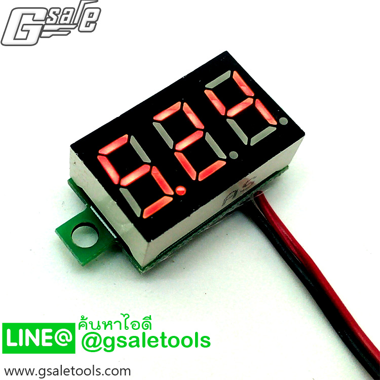 จอแสดงผลแรงดันไฟฟ้า DC จอเล็ก LED สีแดง 4.5V-30V