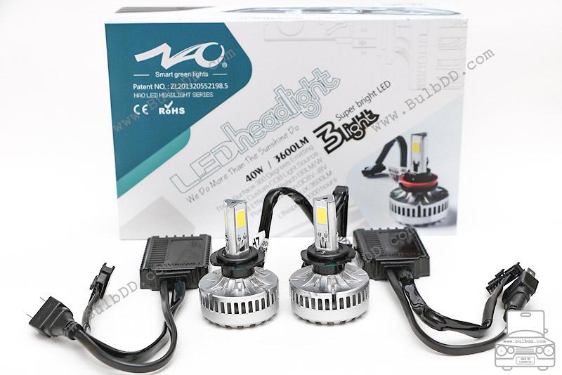 ไฟหน้า LED ขั้ว H7 รุ่น 3 COB Chip แสง 3000K