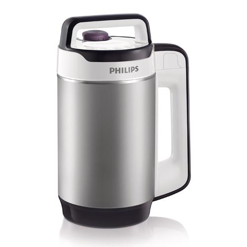 Philips เครื่องทำน้ำเต้าหู้ แบบไม่ต้องกรอง รุ่น HD2079 (Silver)