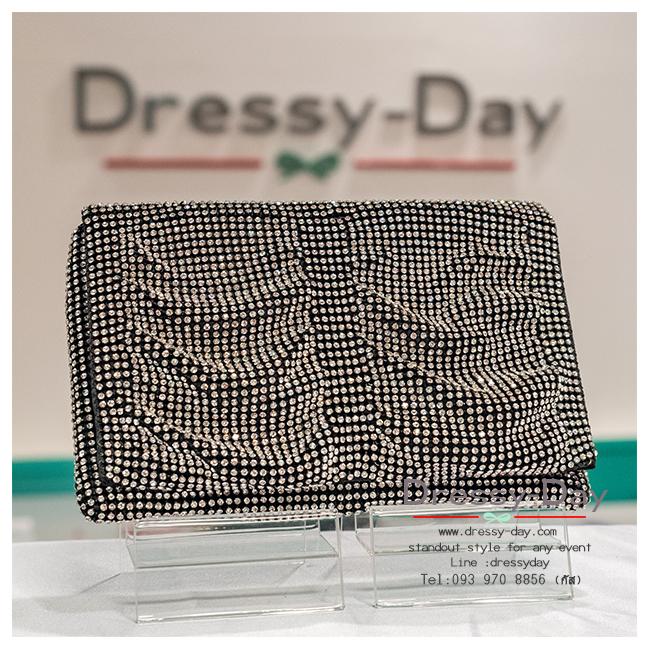 กระเป๋าออกงาน TE007: กระเป๋าออกงานพร้อมส่ง สีดำ เพชร 3 ด้าน สวยหรู ไฮโซสุดๆ ราคาถูกกว่าห้าง ถือออกงาน หรือ สะพายออกงาน สวย หรู เริ่ดที่สุด