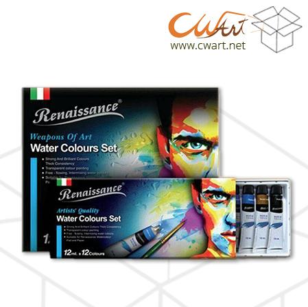 สีน้ำRenaissance x24สี,12ml ( ยกกล่อง 12ชุด )
