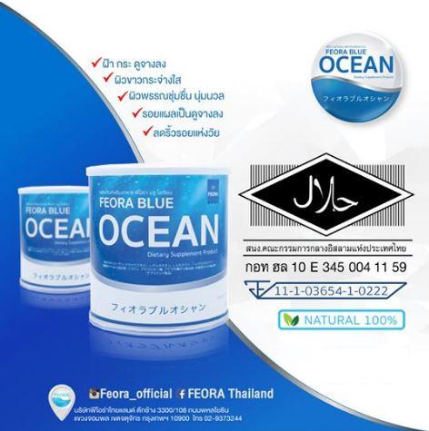 Feora Blue Ocean ฟิโอร่า บลู โอเชียน คอลลาเจน รสเบอร์รี่ คอลลาเจนแท้ 10,000 mg. พร้อมสารสกัดจากเบอร์รี่ 7 ชนิด บำรุงผิวสวยใส จากภายในสู่ภายนอก ผิวขาวกระจ่างใส ผิวเนียน ลดสิว และริ้วรอย ผิวทนต่อแดดถึง 40%