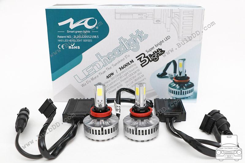 ไฟหน้า LED ขั้ว H8/9/11 รุ่น 3 COB Chip แสง 6000K
