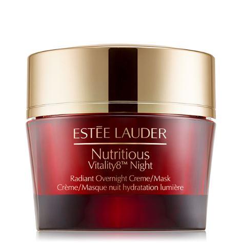 Estee Lauder Nutritious Vitality8 Overnight Creme / Mask ขนาดทดลอง 15ml. ครีมเนื้อเนียนนุ่มสำหรับกลางคืน ฟื้นฟู ซ่อมแซมผิว ให้ชุ่มชื่น สดใส ให้ผิวสามารถรับมือกับสภาวะทำร้ายผิวได้อย่างเต็มที่ในตอนกลางวัน ด้วยสารบำรุงผิวเข้มข้น จึงเข้าดูแลผิวได้อย่างล้ำลึก