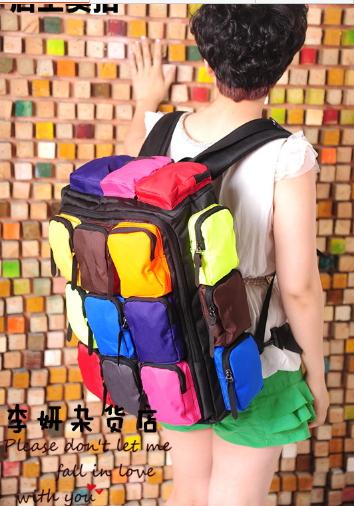 กระเป๋าเป้สะพายหลากสีสัน