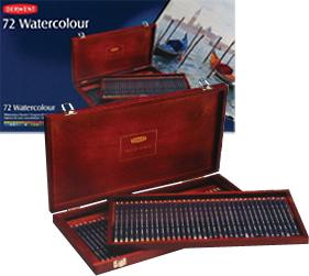 สีไม้Derwent รุ่นWatercolour x72สี(กล่องไม้)
