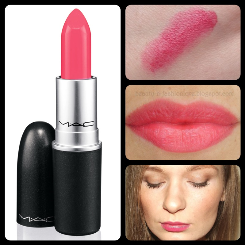 ลิปสติก MAC Lustre Lipstick # Lipblossum ลิปสติกพร้อมประกายแวววาว มอบสีเด่นชัดแนบแน่นบนริมฝีปากในขณะเดียวกันก็มอบความชุ่มชื้น เผยริมฝีปากเนียนนุ่ม เย้ายวน ประกายเซ็กซี่ เนิ่นนานตลอดทั้งวัน