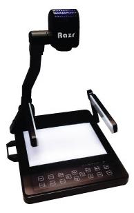 Razr EV-355 Visualizer 3.2 ล้านพิกเซล Eco model ปรับความคมชัด Auto Image Adjust แสดงถาพได้ 2 ภาพ ในจอเดียวกัน