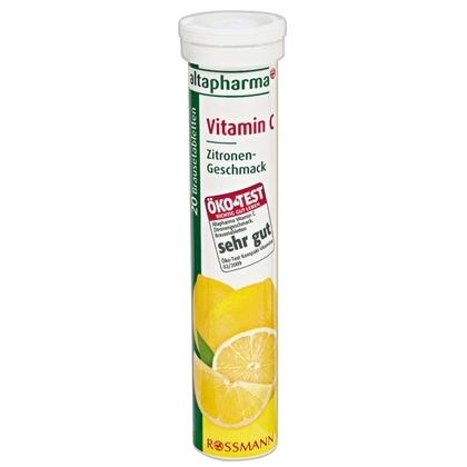 "Altapharma Vitamin C 180mg. (ต่อเม็ด) วิตามินเม็ดฟู่ละลายน้ำ ""วิตามิน ซี"" (20เม็ด) รสมะนาว วิตามิน ซี เป็นสารต้านอนุมูลอิสระ ที่ช่วยเพิ่มภูมิต้านทานให้แก่ร่างกาย ช่วยต้านหวัด เมื่อทานเป็นประจำต่อเนื่องยังช่วยให้ผิวเนียนเรียบ กระจ่างใสขึ้นด้วยค่ะ"