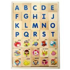 ของเล่นไม้ กระดานจับคู่ ชุด ABC