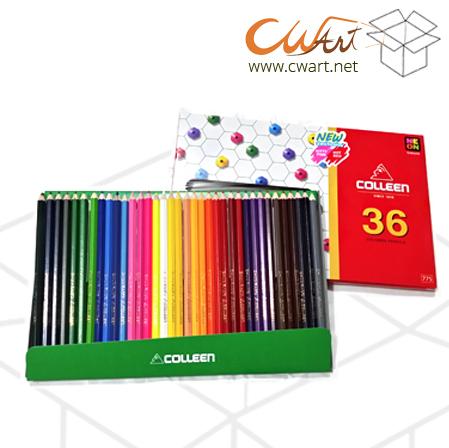 สีไม้Colleen 36สี/36แท่ง ยกกล่อง 4ชุด