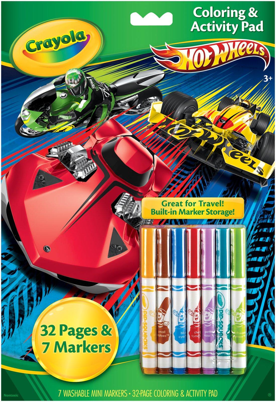 Crayola Coloring & Activity Pad: Hot Wheels แผ่นภาพระบายสี และกิจกรรม ลายรถแข่ง