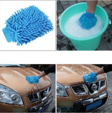 ถุงมือล้างรถไมโครไฟเบอร์