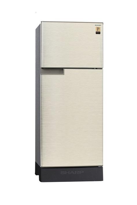 Sharp ตู้เย็น 2 ประตูความจุ 5.9 คิว PREMIUM รุ่น SJ-19P-CH สีแชมเปญเงิน
