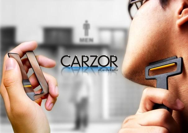 มีดโกนหนวดแบบพกพา carzor