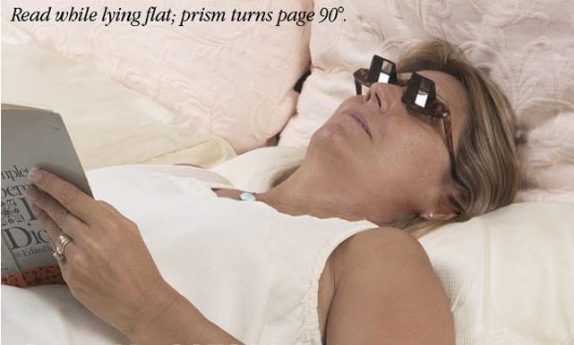 แว่นตาสำหรับนอนอ่านหนังสือ