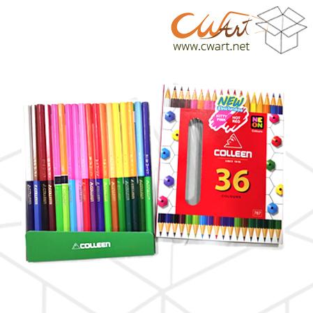 สีไม้Colleen2หัว 36สี/18แท่ง ยกกล่อง 8ชุด