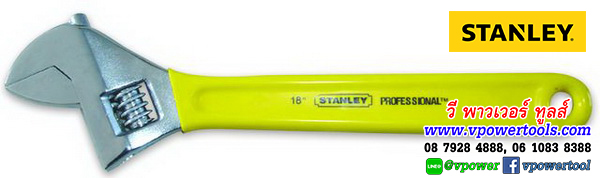 STANLEY 87-796 แสตนเล่ย์ ประแจเลื่อน ด้ามหุ้มยาง ความยาว 18นิ้ว รุ่นงานหนัก