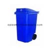 ถังขยะมีล้อเนื้อโพลีเอทธิลีน-240 ลิิตร (ฝามีช่องทิ้ง) 001-TC 240 RD Trash wheelie bins poly ethylene. 240 liter 001-TC 240 RD r