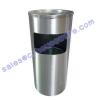ถังขยะสแตนเลส 001-H14-002-00035 Stainless Circular Garbage Can. 001-H14-002-00035stainless Trash Bin with Ashtray,Bin Thùng rác không gỉ với gạt tàn,Bin ກະຕ່າຂີ້ເຫຍື້ອແຕນເລ,ດທີ່ມີ Ashtray,
