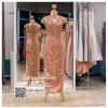 รหัส ชุดกี่เพ้า :KPL001 ชุดกี่เพ้าประยุกต์ยาวราคาถูก ชุดยกน้าชาลูกไม้งานสวยตกแต่งด้ายทองเหมาะใส่เป็นชุดแต่งงาน ชุดงานหมั้นแบบเรียบหรู คอลเลคชั่น
