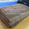 """ผ้าห่มโรงแรม สีน้ำตาลเข้ม ขนาด 60""""x80"""" Hotel blanket brown color size 60'' * 80'' Code: TS-6080-40-2"""