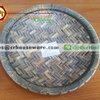 ถาดกลม 10 นิ้ว ลายไม้สาน รหัส : NK13809-11 Melamine tray round shape weave design 10 inches. Code : NK13809-11
