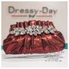 กระเป๋าออกงาน TE023: กระเป๋าออกงานพร้อมส่ง สีไวน์แดง ดีเทลคริสตอลสุดหรู ราคาถูกกว่าห้าง ถือออกงาน หรือ สะพายออกงาน สวย หรู ดูดีมากค่ะ