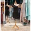 รหัส ชุดราตรีสั้น :PF140 ชุดราตรีสั้นผ้าซาติน เดรสออกงานไหล่เฉียง ชุดไปงานแต่งงานสีดำ ชุดแซกงานสวยมาก แบบประดับโบว์เพิ่มความน่ารัก
