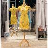 รหัส ชุดกี่เพ้า :KPS042 ชุดกี่เพ้าพร้อมส่ง มีชุดกี่เพ้าคนอ้วน แบบสั้น สีเหลือง ปักลูกไม้ ดิ้นทอง คัตติ้งเป๊ะมาก ใส่ออกงาน ไปงานแต่งงาน ใส่เป็นชุดพิธีกร ชุดเพื่อนเจ้าสาว ชุดถ่ายพรีเวดดิ้ง ชุดยกน้ำชา หรือ ใส่ ชุดกี่เพ้าแต่งงาน สวยมากๆ ค่ะ