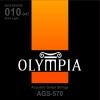สายกีต้ารโ์ปร่งชุด 010-047 ยี่ห้อ Olympia AGS570